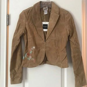 NWT Vintage GUESS leather jacket blazer Small